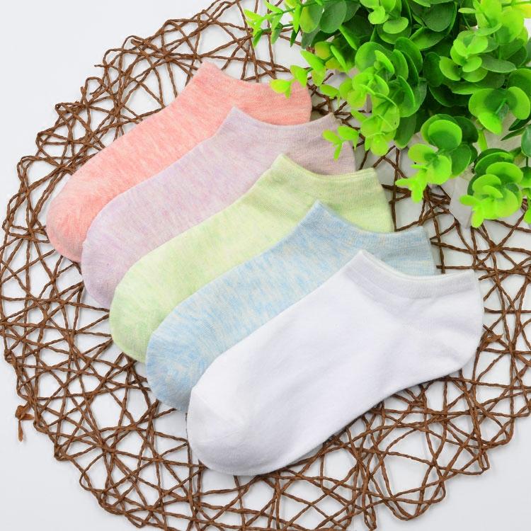 袜子女薄棉袜韩国浅口船袜低帮可爱短袜夏季学院风纯棉黑白色女袜