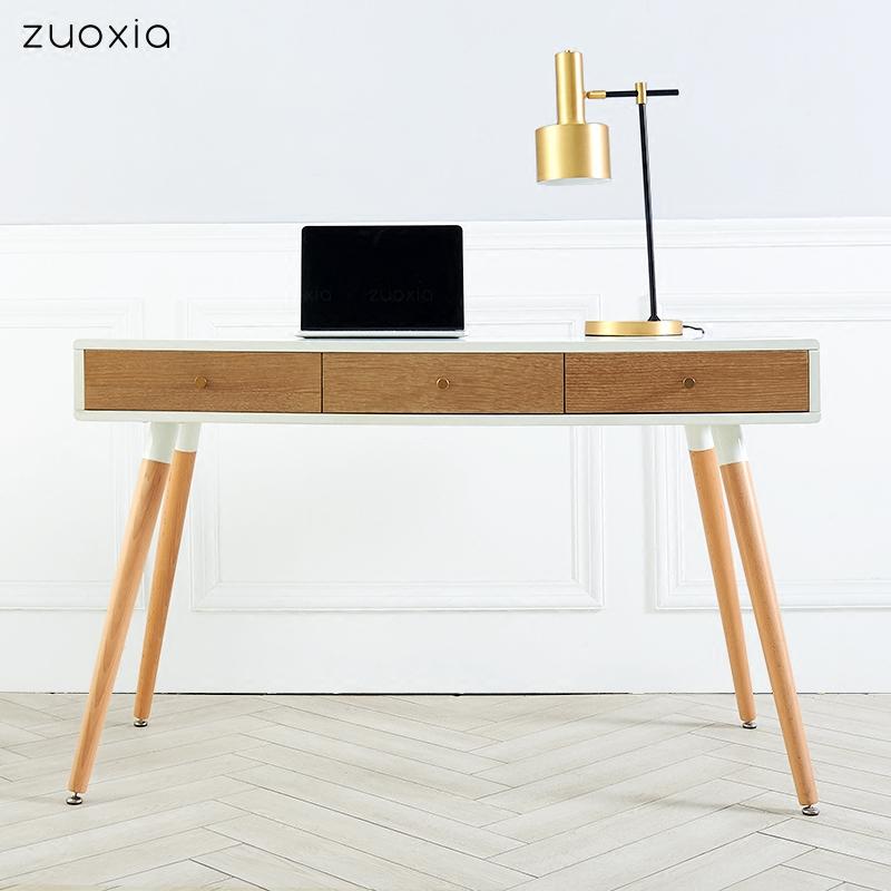 Нордический письменный стол небольшой квартира домой спальня дизайнер книга дом дерево компьютерный стол сочетание простой творческий стол