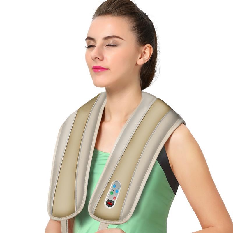 頸肩樂捶打肩頸熱敷頸椎按摩器頸部腰部肩部敲打肩膀按摩披肩家用