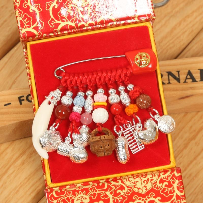 E19 подарок ребенок ребенок пресс шок зло спокойствие серебро украшения лотерейный мешок персик корзина счеты долго сырье фрукты безопасность штифт