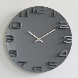 简约现代3D立体数字挂钟静音圆形石英钟挂表卧室客厅时钟时尚创意