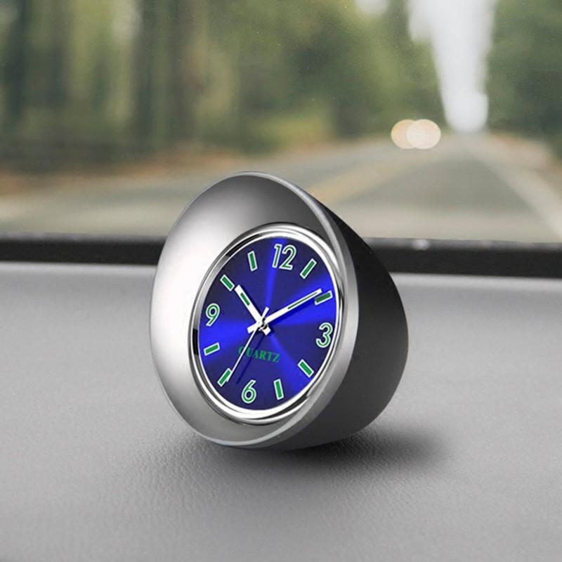 车载时钟夜光汽车温度计车用电子表车内钟表时间表钟电子钟石英表