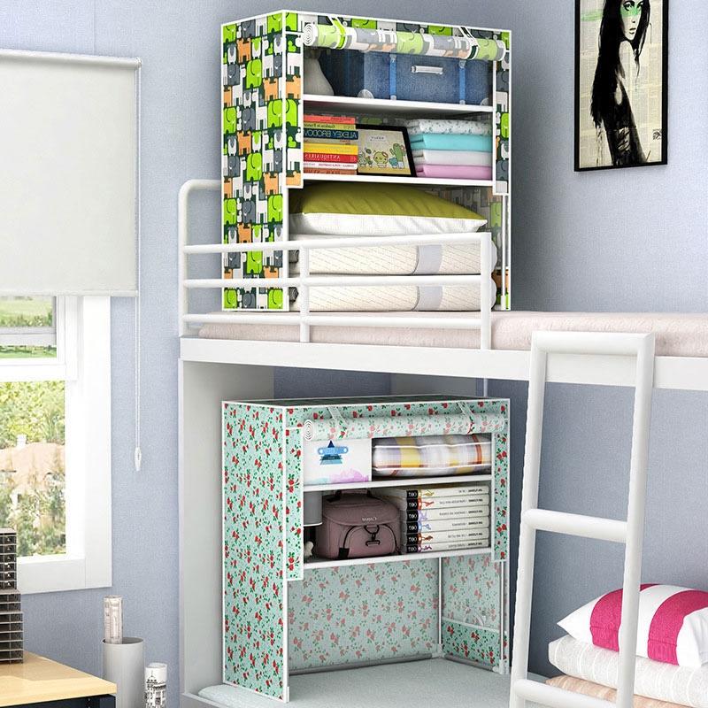 Прикроватный хранение кабинет комната с несколькими кроватями верхняя полка гардероб легко ткань гардероб студент провинция пространство один oxford s мини