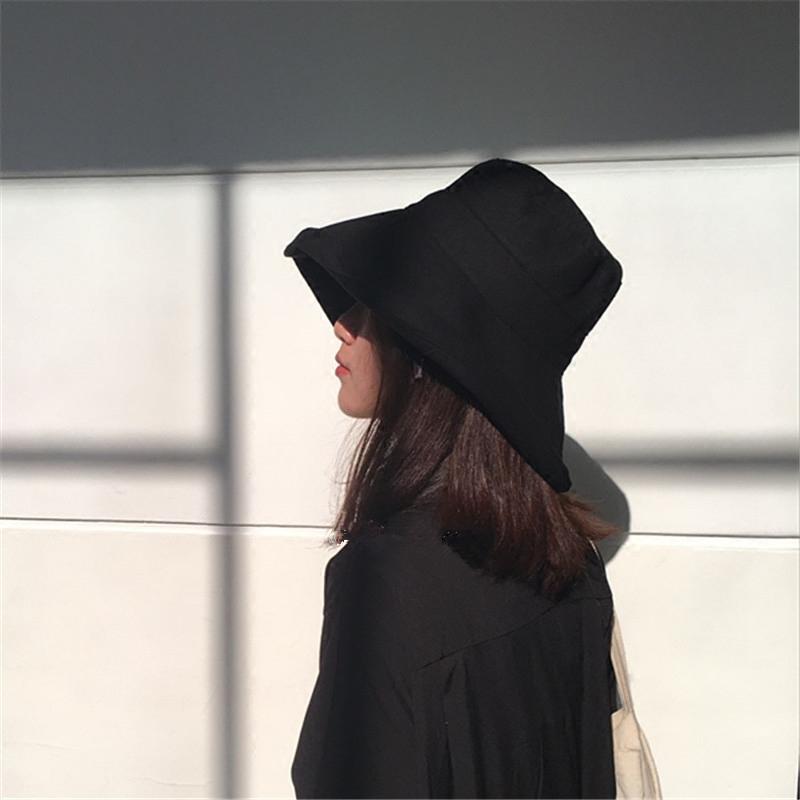 【暗黑】山本风黑色渔夫帽棉麻禁欲系男女宽檐遮脸日系遮阳盆帽子有赠品