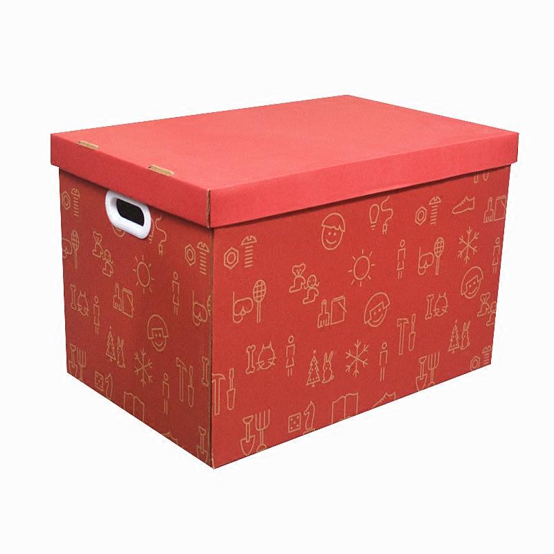 多尺寸宜家超硬纸质收纳箱 实用有盖储物箱可折叠搬家整理箱子
