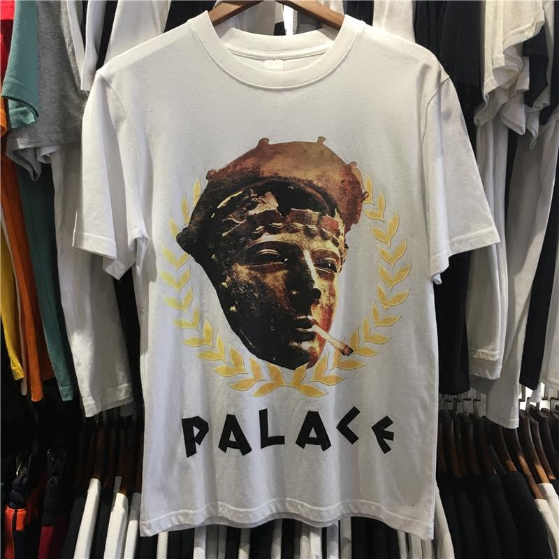 2018新款PALACE T-SHIRT欧美潮牌嘻哈雕像人物印花T恤短袖情侣TEE