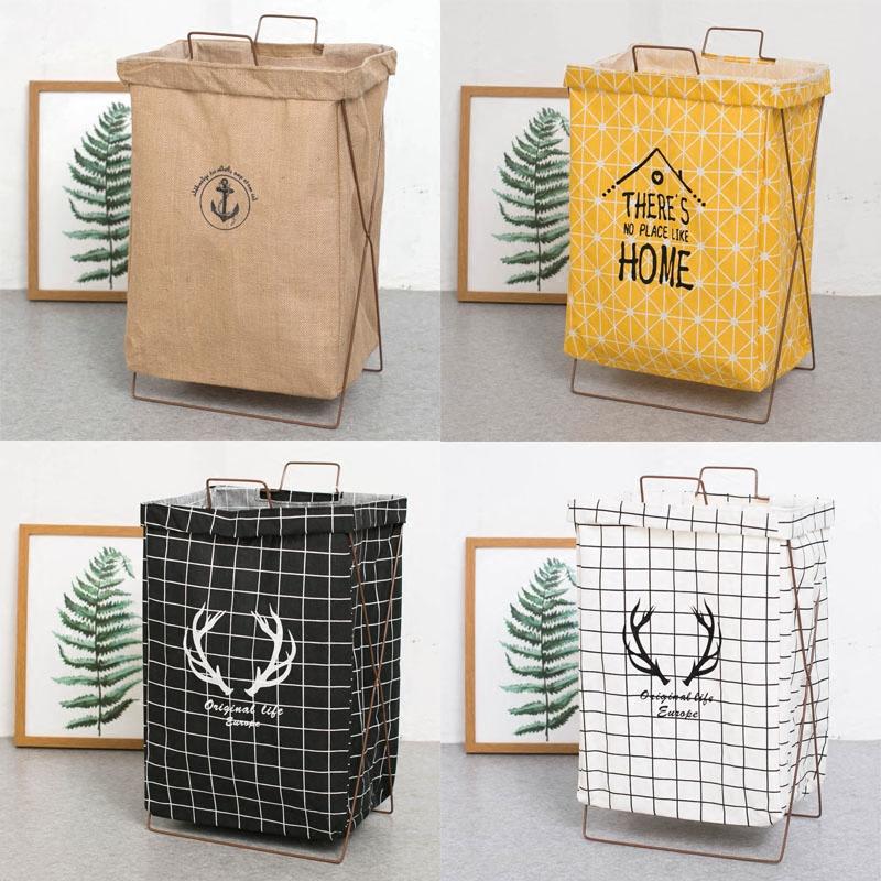 Портативная корзина для хранения грязной одежды со складыванием поддержка водонепроницаемый Негабаритная корзина для белья