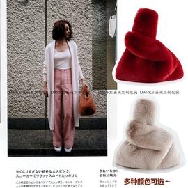 毛毛包包女2019冬季新款手提包 马甲背心毛绒包 手包兔毛仿皮草包图片