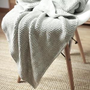 北歐搭毯床沙發毯灰色毛毯毛線單人搭巾純色針織毯毛毯床毯子鋪毯