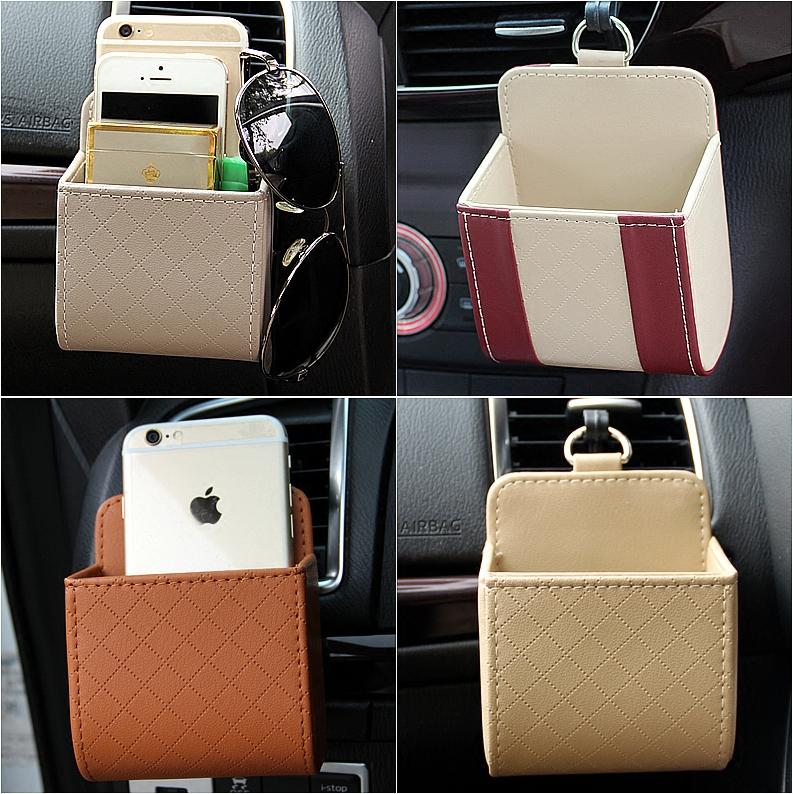汽車出風口手機袋 空調口置物袋收納盒 車用掛袋車載多 雜物盒