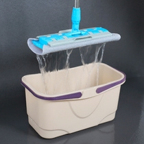 Rectangular cleaning mop barrel squeeze bucket flat sponge thick mop household large portable plastic storage bucket Plus