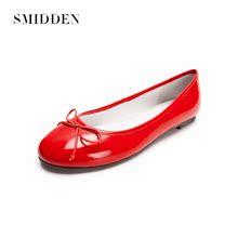 SMIDDEN весной, летом и осенью новый глава свет сладкий лук супер мягкие плоские балет обувь женская