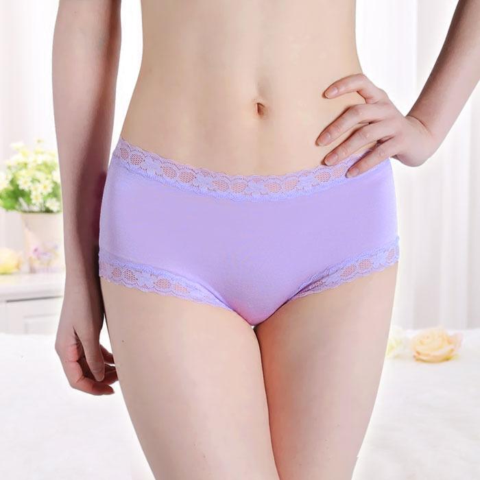 Buy 5 free 1 buy 7 free 2 modal mid waist womens seamless briefs Lace Sexy Underwear