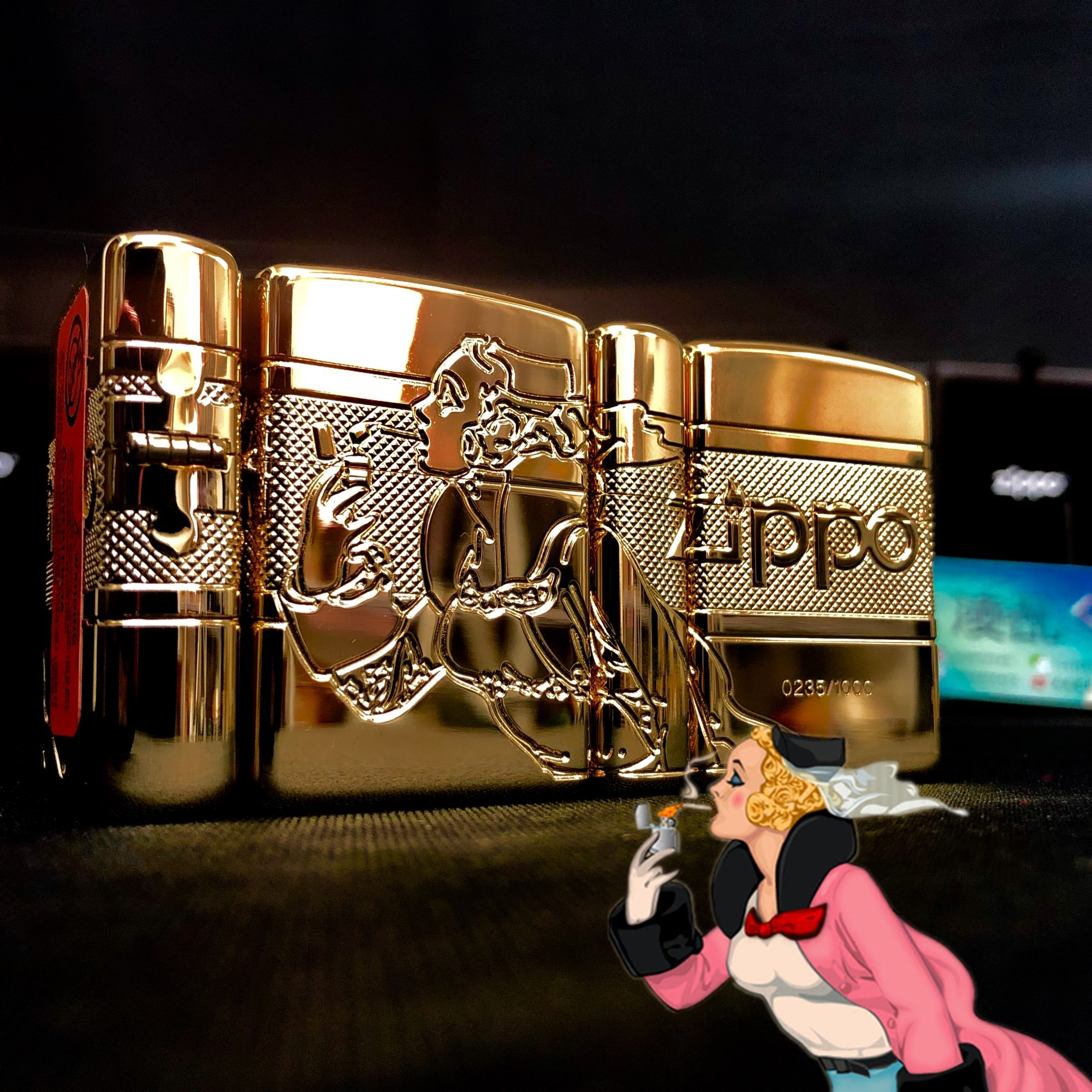 【凌乱Zippo】镀金盔甲 风中女郎80周年纪念 限量1000