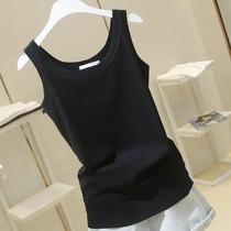 2021夏季新款打底纯白色工字背心女弹力修身显瘦外穿吊带无袖T恤