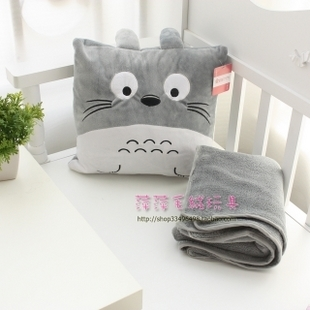 Chinchilla office car pillow is coral fleece blanket quilt cushion dual air conditioning blanket was lunch break is