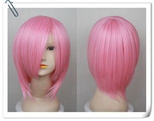 Promotions pink short hair long bangs Naruto anime cosplay wig Sakura death eight thousand streams Asian dream