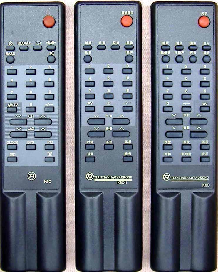 �L虹彩�原�b�b控器(K6C、K6C-1、K6D)�L虹���C�b控器