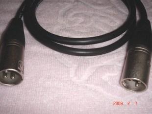 定制Choseal/秋叶原音频线XLR卡侬公对公影音配件纯铜线材1米价格