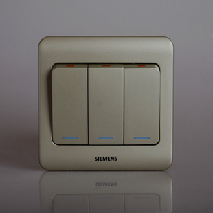 Siemens Siemens switch switch panel switch socket Vision Series golden brown three open single control switch fluorescent