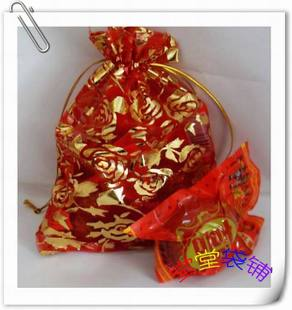 Red rose bronzing yarn bag Candy bags Gift bags Hi egg bags Joy pipe Yarn gift bags Yarn bags wholesale