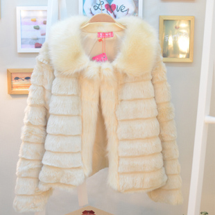 Ms female models 2012 new winter warm warm fur coat lapel coat fluff