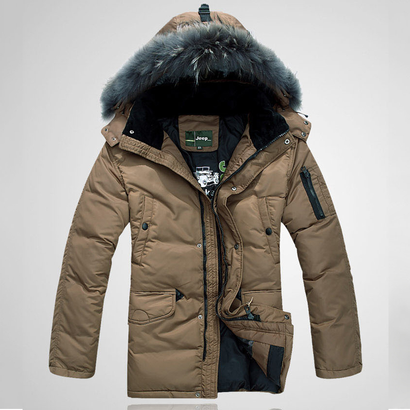 Енот волос-40 градусов холодной высокой шерсти вниз Куртка мужская подлинной Распродажа утолщенной