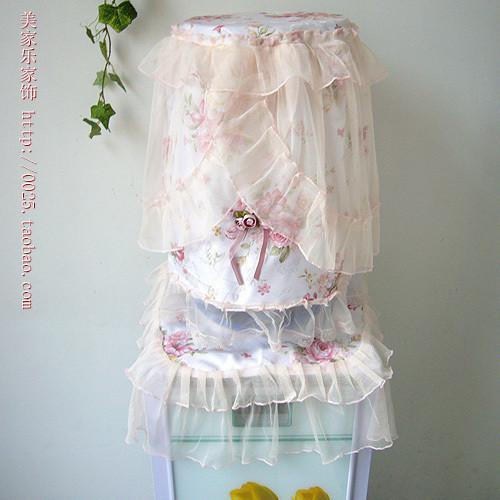 免邮 粉红玛丽 高档布艺蕾丝饮水机套/韩式饮水机罩(2件一套)