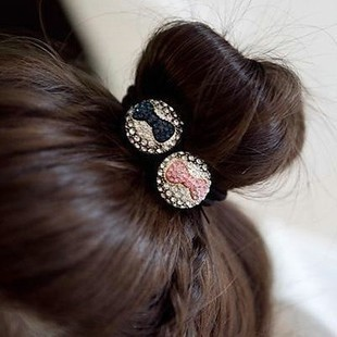 B075 Korean jewelry sweet wild ball head bow hair ring hair rope hair jewelry