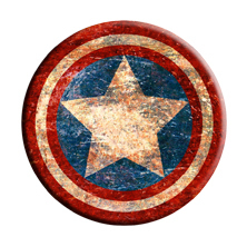 Film animation around Personalized custom badge brooch Avengers Captain America shield badge