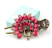 C061 good classical jewelry rhinestone vintage Korea hairpin hair catch clip catch