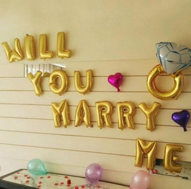 Will you marry me will you marry me aluminum balloon