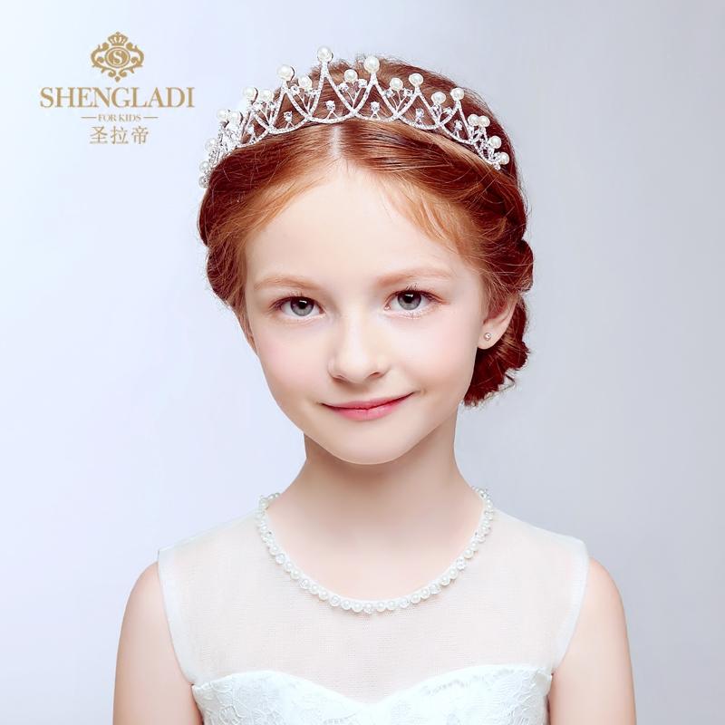 儿童发饰 儿童皇冠头饰公主发箍王冠女童发饰水钻王冠演出配饰