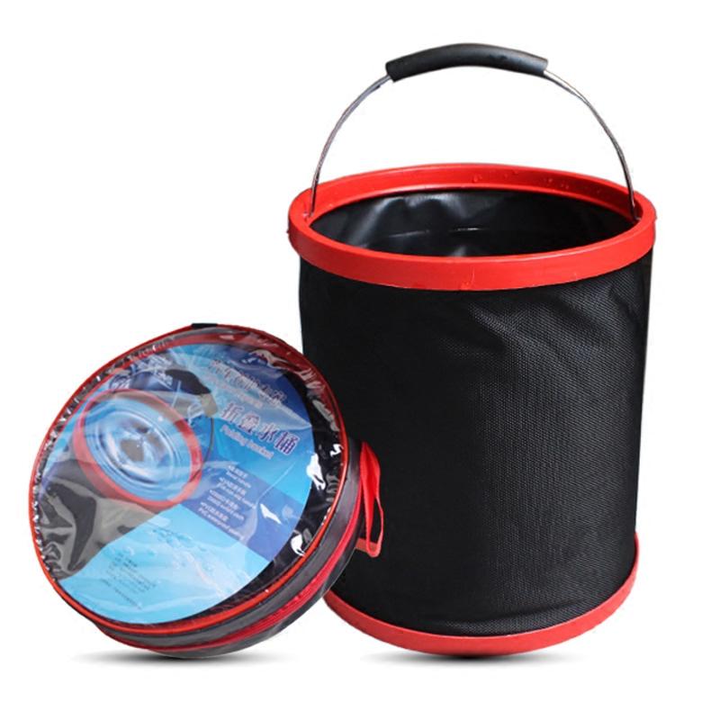 加厚折疊水桶 車載便攜式洗車用水桶 戶外釣魚桶 汽車用品超市