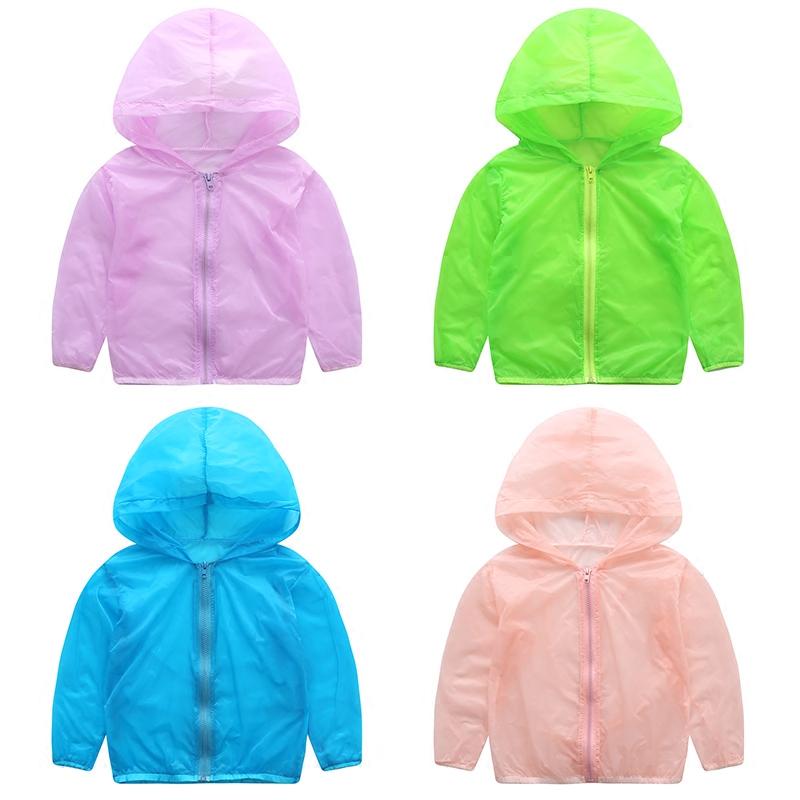 Ребенок солнцезащитный одежды 2017 новый летний ребятишки ребенок мальчиков девочки пальто легкий дышащий длинный рукав одежда летний костюм