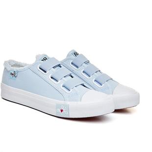 無鞋帶帆布鞋不繫帶初中女生鞋子韓版潮流學生百搭沒有鞋帶的鞋子
