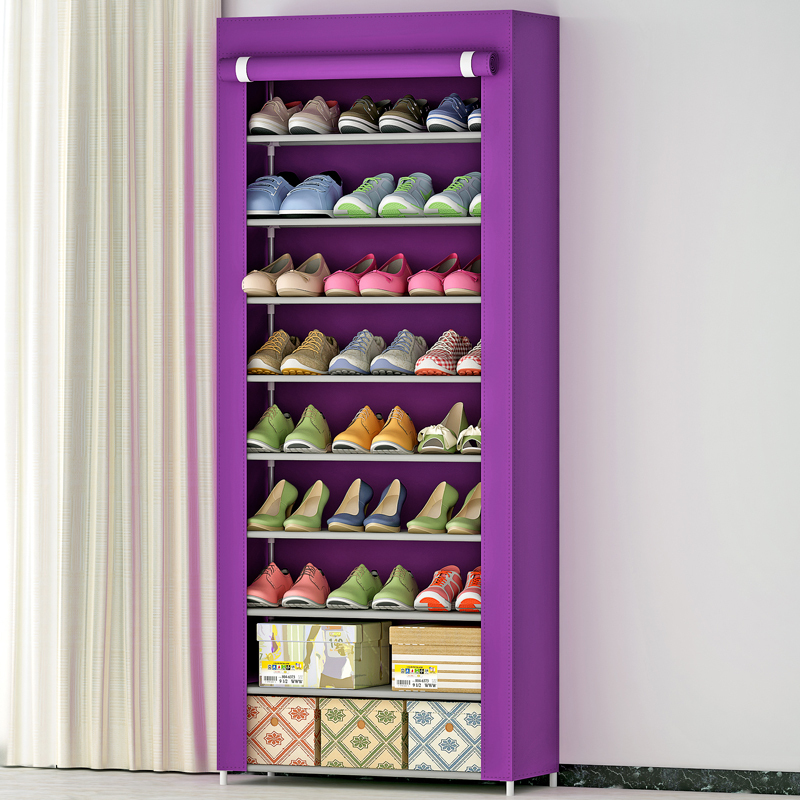 蜗家 秒杀超大型鞋柜加固9层鞋橱防尘简易鞋柜特价包邮