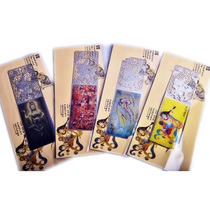 Dunhuang tourist souvenirs Mogao grottoes flying hollowed bookmark Creative Stationery 3 random shipments