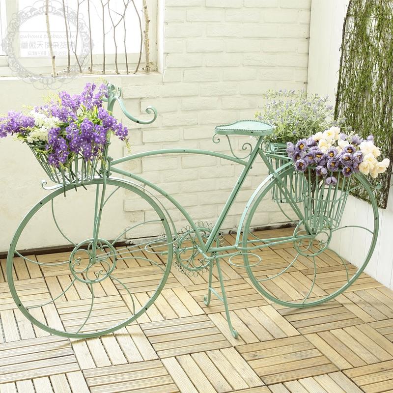 Американский страна цвет велосипед моделирование с цветами корзина этаж украшение свадьба цветок магазин одежда кофе магазин качели установить