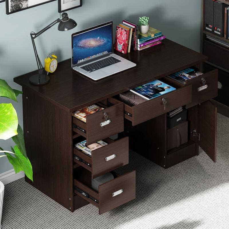 台式简约现代办公桌1.2米 写字桌书桌经济型带抽屉家用电脑桌子