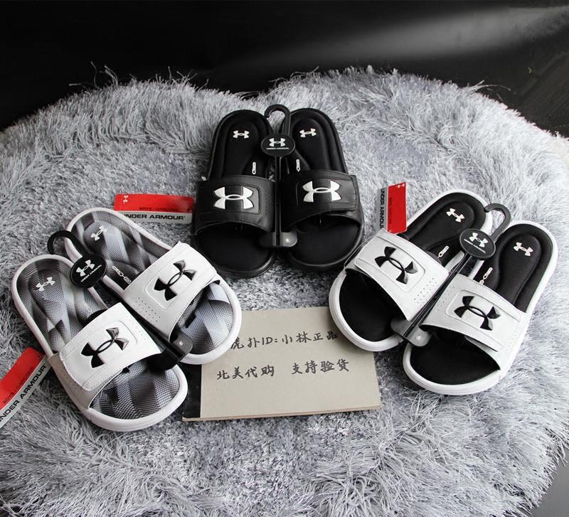 美国购回 under armour 安德玛 UA 男女 运动 拖鞋 IGNITE 黑白