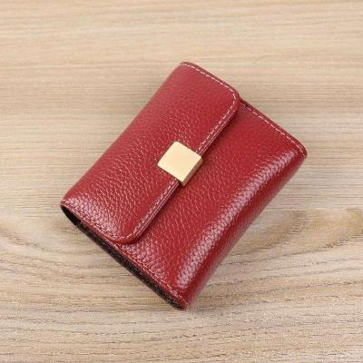Small money bag, small wallet, simple card bag, one ultra-thin Y-short wallet, womens folding small wallet, small change folder, double-layer