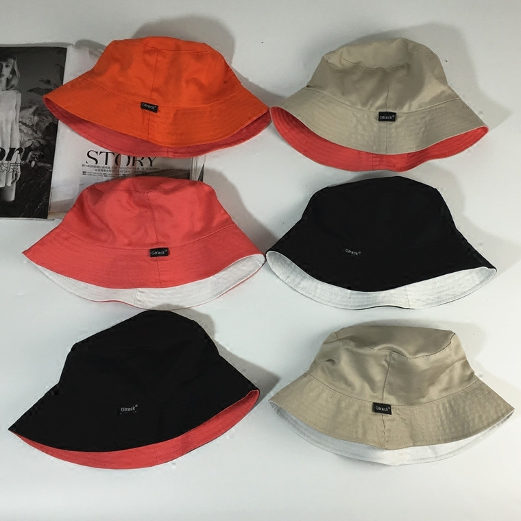 gtrack純棉雙麵漁夫帽子男女春夏戶外 可折疊盆帽 潮遮陽帽