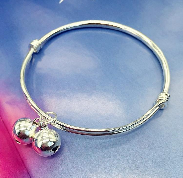 New Korean version small bell anklet silver fashion Anklet girls glossy simple and versatile temperament Anklet