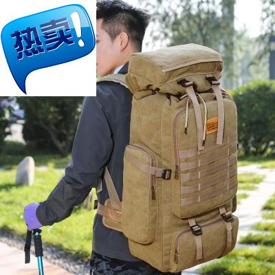 Canvas large mens backpack multi bag large capacity y travel 80 L Large Backpack authentic washing cloth luggage