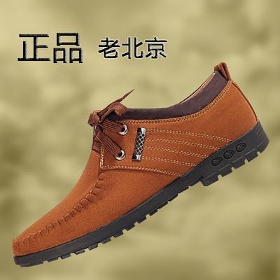 增高鞋老北京四季布鞋男鞋透气单鞋系带防臭爸爸鞋时尚商务休闲鞋