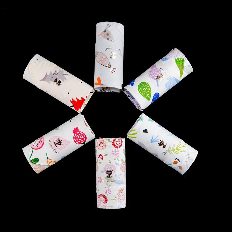泽略安蕾手帕女士全棉高品质出口日本小清新纯棉柔软吸汗小手帕