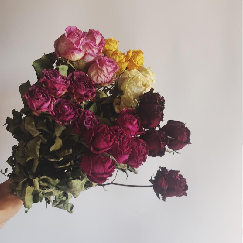 11-16新券天然玫瑰蔷薇花束婚庆会所室内干花