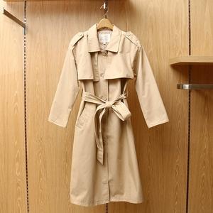 阿依莲春装正品2017新款时尚韩版中长款系带风衣外套女171152a231