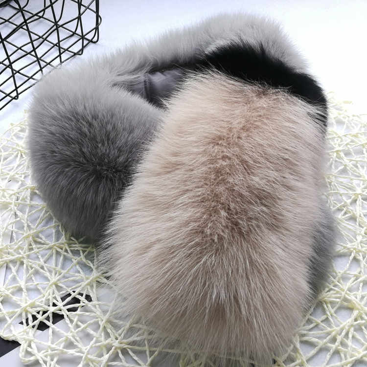 New Fox Fur Scarf contrast color female winter womens Korean version real fur grass scarf scarf can be used as fur collar